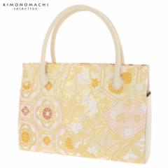 礼装 和装バッグ ダブルファスナー「ゴールド 蜀江文、雪輪重ね」 日本製