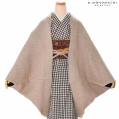 防寒 ウールコート 和装コート 着物カーデコート「ベージュ」