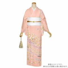訪問着 お仕立て上がり 単品 「ピンク 四季折々の花」 正絹着物 礼装 正絹 訪問着 結婚式 パーティー 祝賀会 袷 プレタ 仕立てあがり <T
