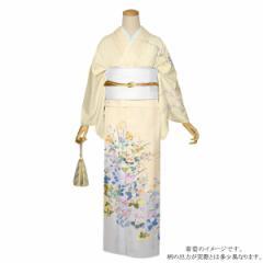 訪問着 お仕立て上がり 正絹着物単品「クリーム色 四季折々の花 京友禅」