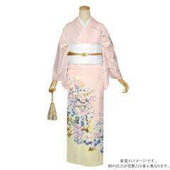 訪問着 お仕立て上がり 正絹着物単品「ピンク 四季折々の花 京友禅」