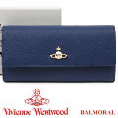 ヴィヴィアンウエストウッド 財布 ヴィヴィアン Vivienne Westwood 長財布 レディース メンズ ネイビー 51060022 BALMORAL NAVY