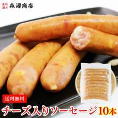 4種のチーズ入りソーセージ 10本 500g 特大ウインナー 送料無料 冷凍便 日本食研 業務用 ギフト 父の日