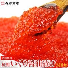 いくら 紅鮭イクラ 醤油漬け 500g(250g×2パック)小粒 塩分濃いめ さけ 鮭 サケ 海鮮 丼 軍艦 送料無料 冷凍便 お取り寄せ ギフト 食品