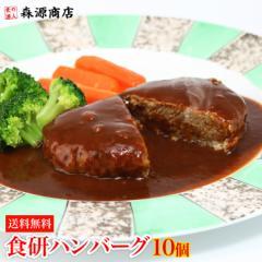 食研ハンバーグ 1袋 10個入 レンジOK 焼くだけ 温めるだけ 日本食研 惣菜 弁当 冷凍便 送料無料 お取り寄せ ギフト 食品 備蓄 父の日