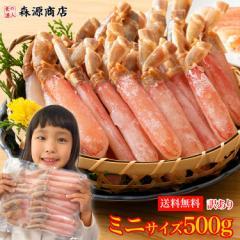 訳あり ズワイ蟹ミニサイズポーション 500g 生 送料無料 冷凍便 かに 蟹 カニ ずわい お取り寄せ ギフト 食品 備蓄 父の日 お中元