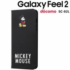☆ ディズニー Galaxy Feel 2 ( docomo SC-02L ) 手帳型アートケース マグネット スリム/ミッキーマウス_025 IN-DGAL2MLC3/MK025