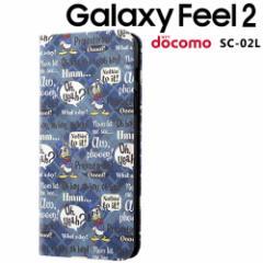 ☆ ディズニー Galaxy Feel 2 ( docomo SC-02L ) 手帳型アートケース マグネット スリム/ドナルド_001 IN-DGAL2MLC3/DD001