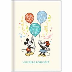 ディズニー 【2018年10月始まり】 2019年 スケジュール帳 手帳 月間B6 DC ミッキー&ミニー 風船 S2943697