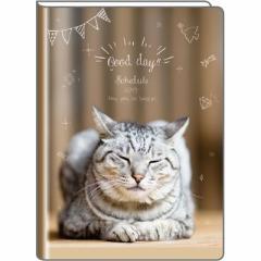 フェリシモ猫部 【2018年12月始まり】 2019年 スケジュール帳 B6手帳 ブラウン FN-36210