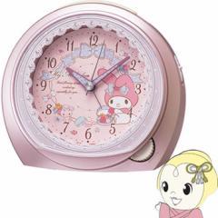 セイコークロック マイメロディ クオーツ目覚まし時計 ピンクメタリック塗装  CQ143P SEIKO