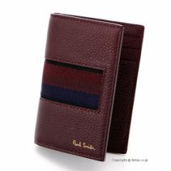 ポールスミス カードケース Paul Smith パスケース ATXC 4769 W885 バーガンディー