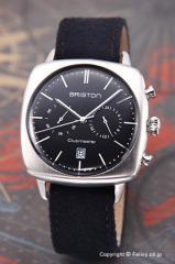 ブリストン BRISTON 腕時計 クラブマスター ヴィンテージ クロノグラフ ブラック 16140.S.V.1.LFB