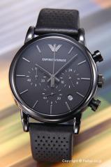 エンポリオアルマーニ 腕時計 メンズ EMPORIO ARMANI オールブラック AR1737