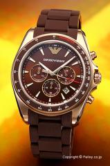 エンポリオアルマーニ 腕時計 メンズ EMPORIO ARMANI スポーティボ シグマ ブラウン×ローズゴールド AR6099