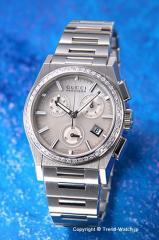 【GUCCI】 グッチ 腕時計 パンテオン クロノグラフ SS(With50Pダイヤベゼル)/ホワイトシェル ボーイズ YA115408