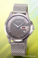 グッチ 腕時計 GUCCI G-タイムレス コレクション スリム アンスラサイト/ミラネーゼ メンズ YA126301