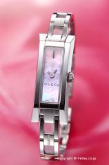 GUCCI グッチ 腕時計 レディース G-リンク バングル ピンクパール YA110520
