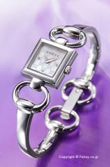 GUCCI グッチ 腕時計 レディース トルナブォーニ ホワイトパール(グッチシマダイアルバージョン)×3Pダイヤ YA120517