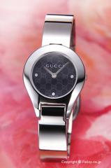 GUCCI グッチ 腕時計 レディース 6700シリーズ ブラック バングル YA067505