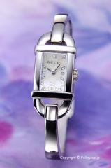 GUCCI グッチ 腕時計 レディース 6800シリーズ ホワイトパール(GGパターン) バングル YA068588