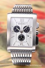 GUCCI グッチ 腕時計 メンズ G-メトロ クロノグラフ シルバー×ブラック YA086319
