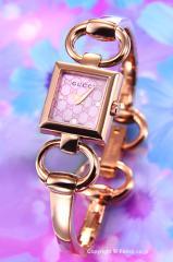 GUCCI グッチ 腕時計 レディース Tornabuoni ローズゴールド×ピンクパール(グッチシマ) YA120520