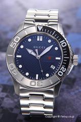 GUCCI グッチ メンズ腕時計 クラシックスポーツ ダークブルー(ブラック×シルバー) YA126253