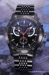 GUCCI グッチ メンズ腕時計 G-タイムレス クロノグラフ オールブラック YA126258