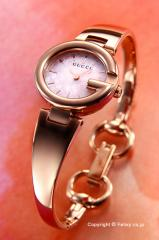 GUCCI グッチ レディース腕時計 グッチシマ ピンクパール×ローズゴールド YA134512