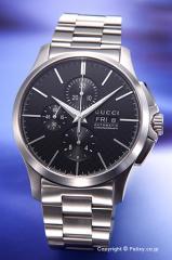 グッチ 腕時計 メンズ GUCCI YA126264 G-タイムレス ニュー オートマティック クロノグラフ ブラック