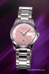 グッチ 腕時計 レディース GUCCI YA126524 G-タイムレス ピンク スモールバージョン