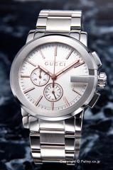 グッチ 腕時計 メンズ GUCCI G-クロノ シルバー(ローズゴールド) YA101201