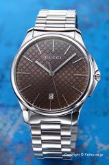 グッチ GUCCI 腕時計 メンズ G-タイムレス コレクション スリム ブラウン YA126317