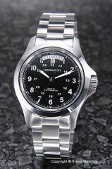ハミルトン 腕時計 Khaki King Automatic(カーキ キング オートマチック) ブラック H64455133