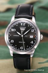 ユンカース 腕時計 フラットライン オートマチック ブラック/ブラックレザー 6350-2AT