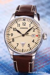 ユンカース 腕時計 コックピット JU52 ベージュ/ブラウンレザー 6144-5QZ