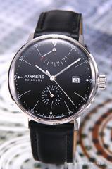 ユンカース 腕時計 バウハウス オートマチック パワーリザーブ ブラック/ブラックレザー 6060-2AT