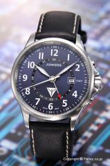 ユンカース 腕時計 タンテ JU52 GMT ダークブルー/ブラックレザー 6848-3QZ