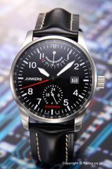 ユンカース 腕時計 ヒューゴ ユンカース ブラック/ブラックレザー 6666-2AT
