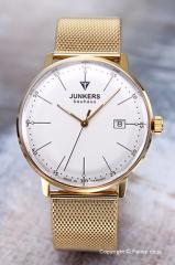 ユンカース メンズ腕時計 バウハウス デイト シルバー×ゴールド 6072M-5QZ
