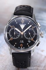 ユンカース メンズ腕時計 ユンカースG38 クロノグラフ ブラック/ブラックレザー 6984-5QZ