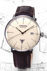 ユンカース メンズ腕時計 6070-5QZ-NEW Bauhaus Date (バウハウス デイト) ベージュ