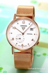 ユンカース JUNKERS 腕時計 レディース Eisvogel F13 Lady ホワイトシルバー×ローズゴールド 6733-M5QZ