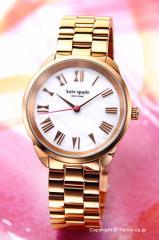 ケイトスペード KATE SPADE 腕時計 レディース クロスタウン ホワイトパール×ローズゴールド KSW1091