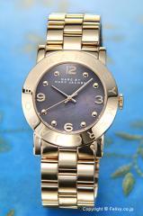 マークバイマークジェイコブス 腕時計 レディース MBM3273 Amy (エイミー) ダーティーマティーニパール×ゴールド