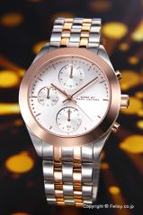 マークバイマークジェイコブス MARC BY MARCJACOBS レディース腕時計 MBM3369 ピーカー クロノグラフ シルバー×ローズゴールドコンビ