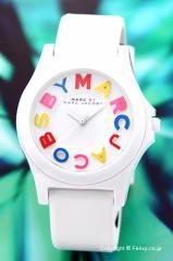 マークジェイコブス 腕時計 MARC BY MARC JACOBS スローン ホワイト(マルチカラー) MBM8660