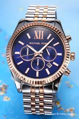 マイケルコース MICHAEL KORS 腕時計 ラージ レキシントン クロノグラフ ネイビー×ローズゴールド MK8412