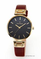 モックバーグ 時計 MOCKBERG レディース 腕時計 SAGA BLACK MO114
